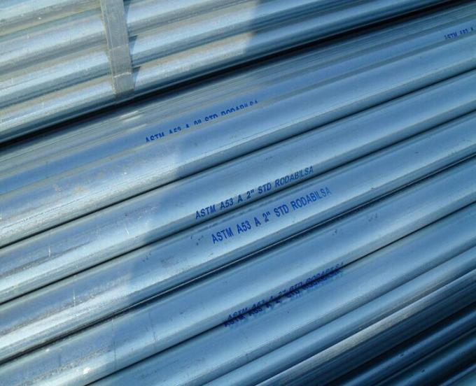 BS1387 Hot Dipped Galvanized Carbon Steel Pipe , A106 GR.B OD 10.3mm - 168.3mm