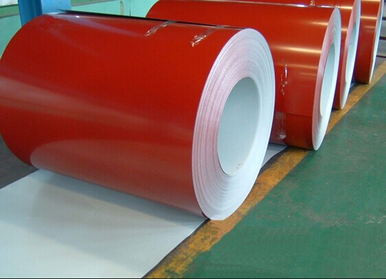 PPGI steel coils , Hot Dip Galvanized Steel Sheet and corrugated steel roofing sheets PE / PVDF paint coated 840mm