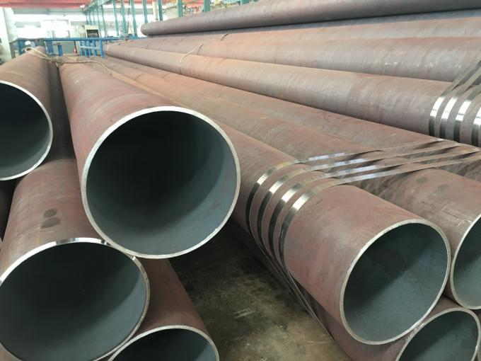 Round Q345A / B / C / D / E carbon seamless steel pipe for Fluid
