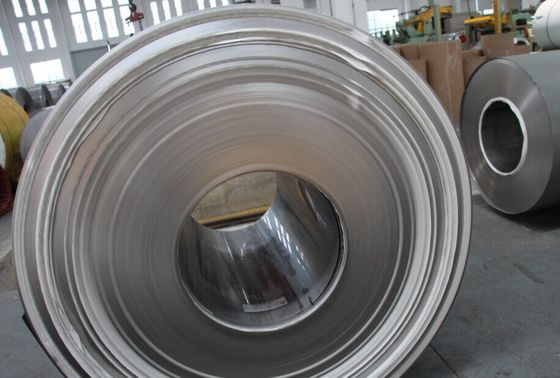 China BS 1449 , DIN17460 , DIN 17441 Hot / Cold Rolled Steel Coil Strips 2B , BA Finish supplier