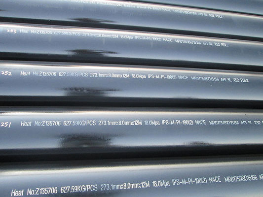 China NACE MR0175 / ISO15156 , API 5L low and high Carbon Steel Pipe For gas and oil supplier