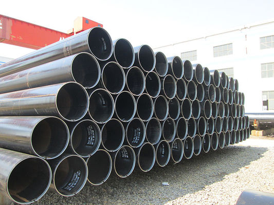 China Hydraulic , Fluid Round LSAW Carbon Steel Pipe Sch5 ~ Sch XXS , X52 Pipe 6.35 ~ 50mm supplier