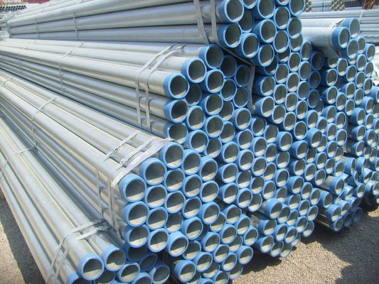 China BS1387 Hot Dipped Galvanized Carbon Steel Pipe , A106 GR.B OD 10.3mm - 168.3mm supplier
