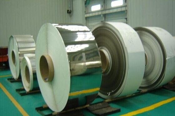 China BS 1449 , DIN17460 , DIN 17441 Stainless Cold Rolled Steel Coil Strips 2B , BA Grade F321 supplier