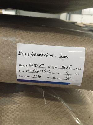 ASTM A-240 / A-240 M GR 304 Steel Plate , 4 Feet Width , 8 Feet Length